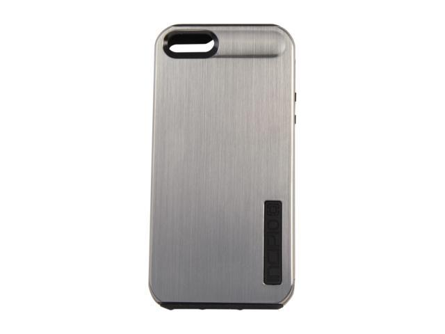 Incipio SILICRYLIC Shine Titanium Silver / Obsidian Black Hard Shell Case w/ Silicone Core For iPhone 5 / 5S IPH-875