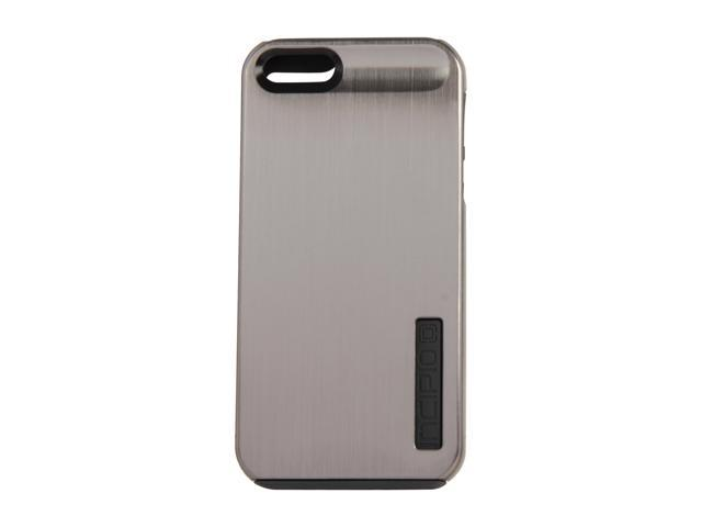 Incipio SILICRYLIC Shine Titanium Silver / Graphite Gray Hard Shell Case w/ Silicone Core For iPhone 5 / 5S IPH-876