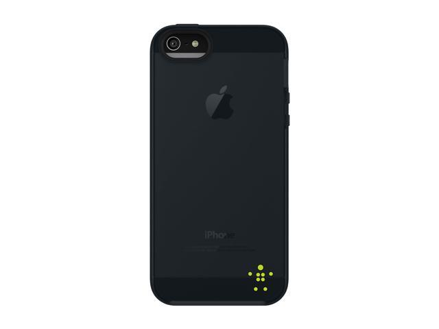 BELKIN Grip Candy Sheer Glow/Blacktop Case for iPhone 5 / 5S F8W138ttC01