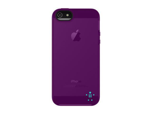 BELKIN Grip Candy Sheer Blue/Purple Lightning Case for iPhone 5 / 5S F8W138ttC07