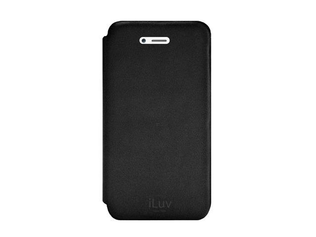 iLuv Black Thin Leather Case For iPhone 5 ICA7J346BLK