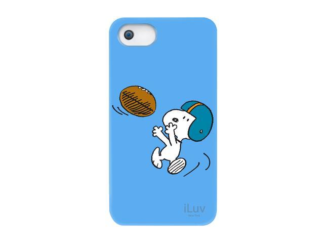 iLuv Snoopy Sports Blue Hardshell Case For iPhone 5 ICA7H383BLU
