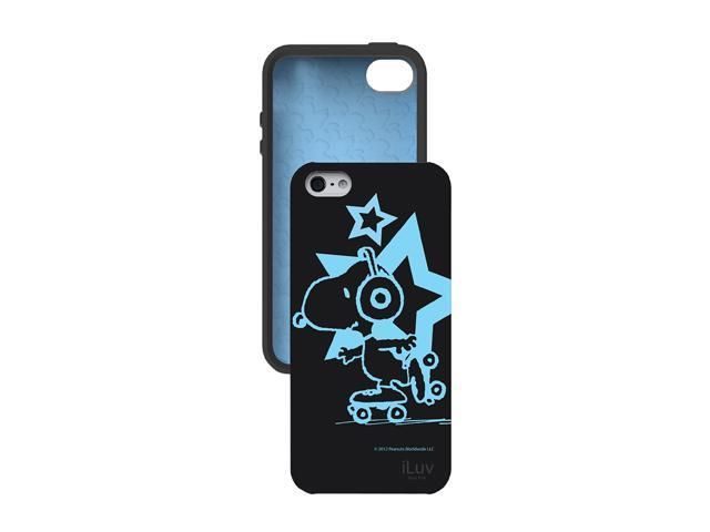 iLuv Snoopy Black Grow-In-The-Dark Case For iPhone 5 ICA7T381BLK