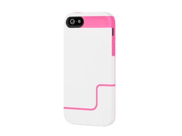Incipio EDGE PRO Optical White / Hot Pink Case For iPhone 5 / 5S IPH-831