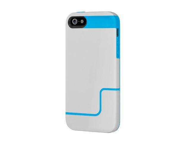 Incipio EDGE PRO Mist Gray / Cyan Blue Case For iPhone 5 / 5S IPH-834