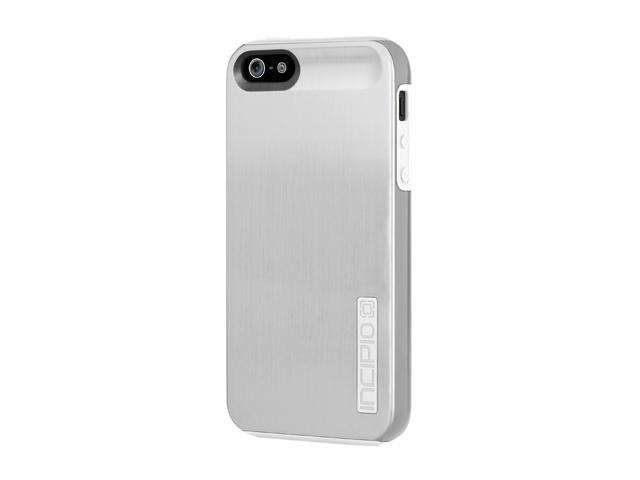 Incipio DualPro Shine Light Silver / Optical White Case For iPhone 5 / 5S IPH-877