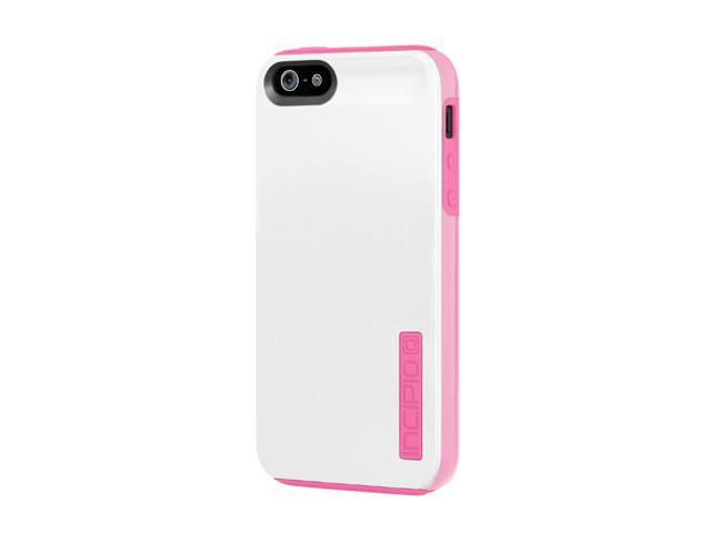 Incipio DualPro Shine Optical White / Hot Pink Case For iPhone 5 / 5S IPH-878