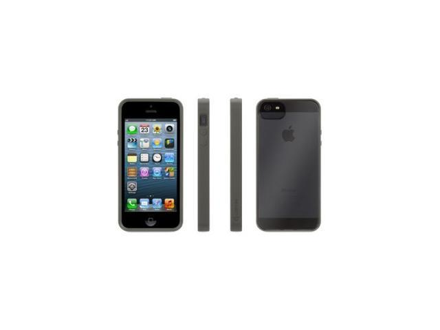 Griffin Reveal Protective Clear Case with Grey Trim for iPhone 5/5s   Ultra-thin hard-shell case