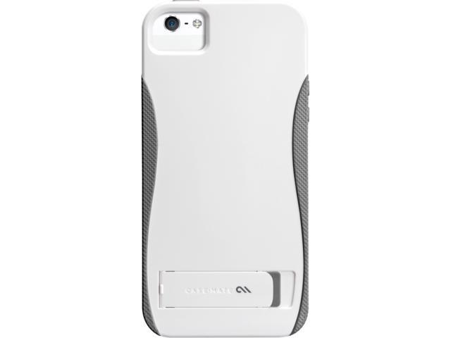 Case-Mate Pop! Case with Stand White / Titanium Gray Solid Case for iPhone 5 CM022368