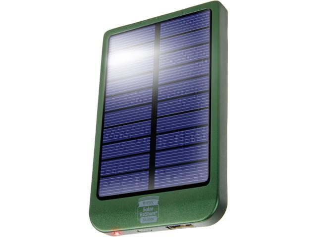 ReStore SL2600 2600mAh Power Bank with Backup Solar Panel and 1.5A USB Charging Port by ReVIVE - Works with Smartphones , Tablets , MP3 Players , Cameras and More Rechargeable Devices