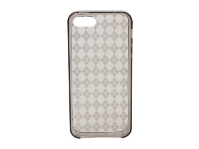 AMZER Luxe Argyle Smoke Gray Solid High Gloss TPU Soft Gel Skin Fit Case For iPhone 5 AMZ94510