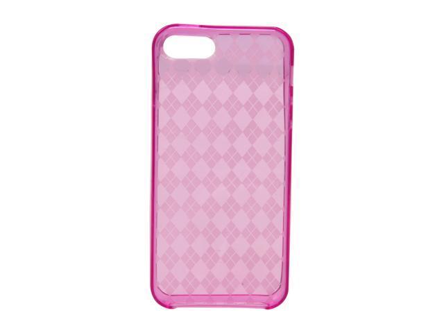 AMZER Luxe Argyle Hot Pink Solid High Gloss TPU Soft Gel Skin Fit Case For iPhone 5 AMZ94511