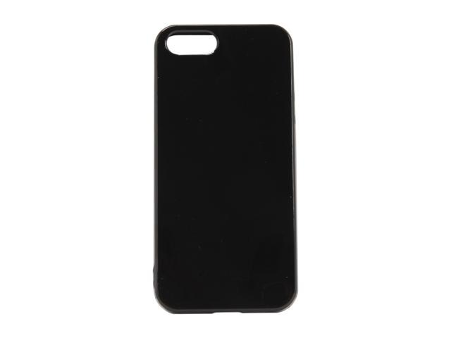 AMZER Black Solid Soft Gel TPU Gloss Skin Case For iPhone 5 AMZ94513