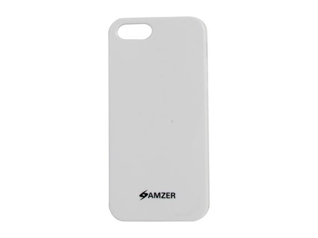 AMZER White Solid Soft Gel TPU Gloss Skin Case For iPhone 5 AMZ94514