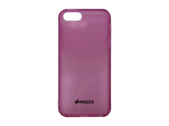 Amzer Soft Gel TPU Gloss Skin Fit Case Cover for Apple iPhone 5 - Translucent Purple (Fits All Carriers)