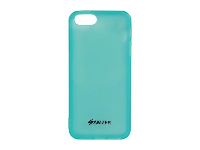 Amzer Soft Gel TPU Gloss Skin Fit Case Cover for Apple iPhone 5 - Translucent Blue (Fits All Carriers)