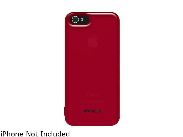 AMZER Red Soft Gel TPU Gloss Skin Fit Case For iPhone 5 AMZ94518