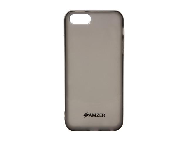 Amzer Soft Gel TPU Gloss Skin Fit Case Cover for Apple iPhone 5 - Translucent Smoke Gray (Fits All Carriers)
