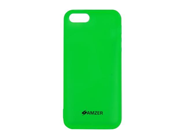 Amzer Soft Gel TPU Gloss Skin Fit Case Cover for Apple iPhone 5  - Translucent Green (Fits All Carriers)