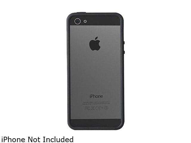 AMZER Clear / Black Solid TPU Polycarbonate Snap On Hybrid Case For iPhone 5 AMZ94519