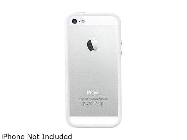 AMZER Clear / White Solid TPU Polycarbonate Snap On Hybrid Case For iPhone 5 AMZ94520