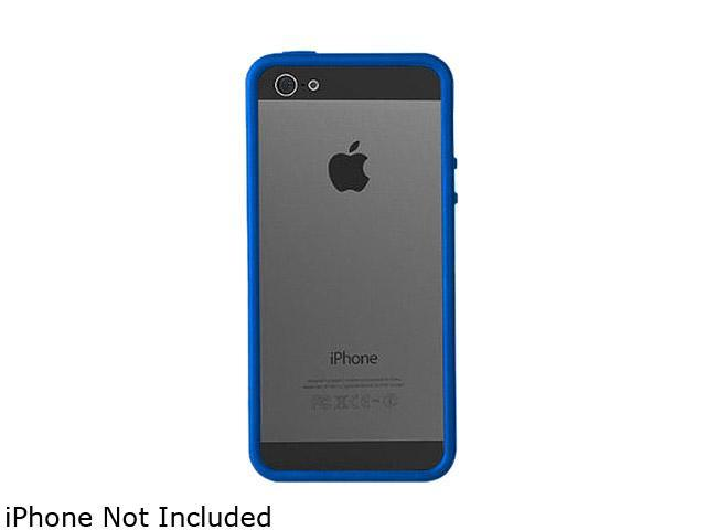 AMZER Clear / Blue Solid TPU Polycarbonate Snap On Hybrid Case For iPhone 5 AMZ94521