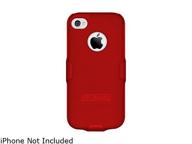 AMZER Red Shellster Shell Holster Combo Case For iPhone 5 AMZ94529