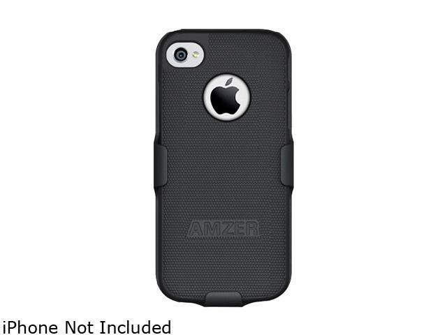 AMZER Black Shellster Shell Holster Combo Case For iPhone 5 / 5S AMZ94527