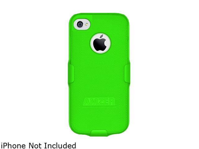 AMZER Neon Green Shellster Shell Holster Combo Case For iPhone 5 AMZ94703