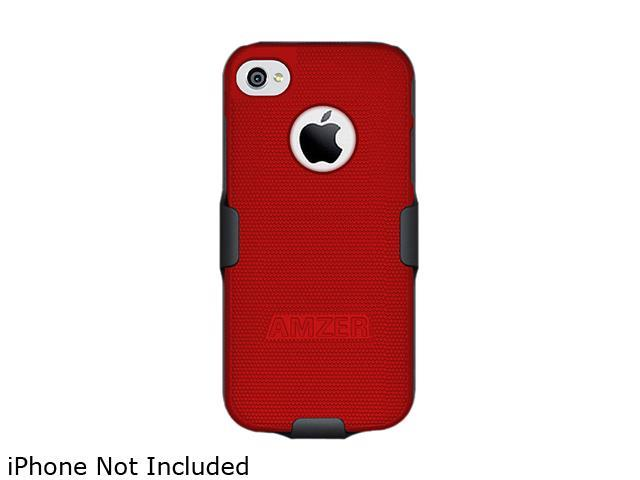 AMZER Black / Red Shellster Shell Holster Combo Case For iPhone 5 AMZ94828