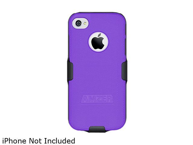 AMZER Black / Purple Shellster Shell Holster Combo Case For iPhone 5 AMZ94829