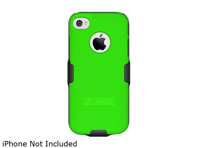 AMZER Black / Neon Green Shellster Shell Holster Combo Case For iPhone 5 AMZ94830