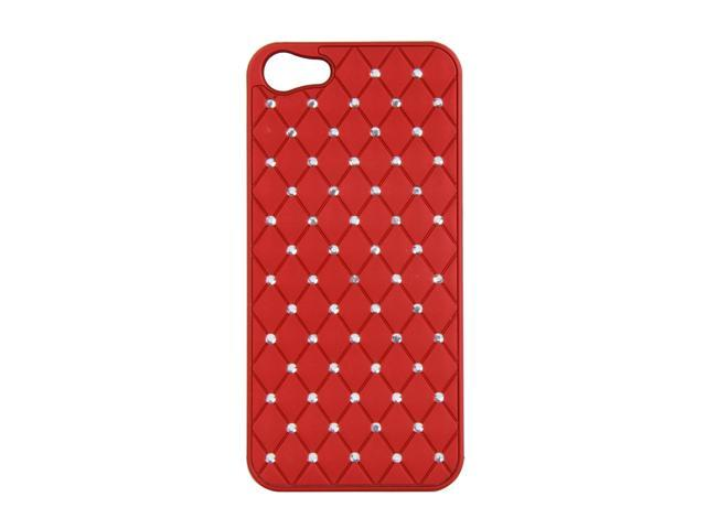 AMZER Dark Red Diamond Lattice Snap On Shell Case For iPhone 5 AMZ94731