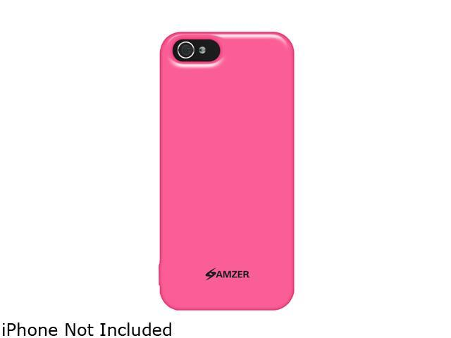 Amzer Soft Gel TPU Gloss Skin Fit Case Cover for Apple iPhone 5 - Pink (Fits All Carriers)
