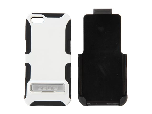 Seidio DILEX Combo (w/ Kickstand ) Glossed White Case For iPhone 5 / 5S BD2-HK3IPH5K-GL