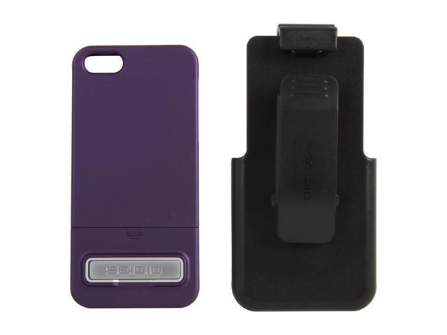 Seidio SURFACE Combo (w/Kickstand) Amethyst Case For iPhone 5 / 5S BD2-HR3IPH5K-PR