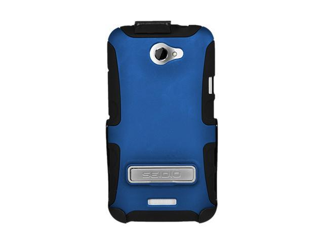 Seidio DILEX Combo with Metal Kickstand Royal Blue Holster For HTC One X BD2-HK3HTNXLK-RB