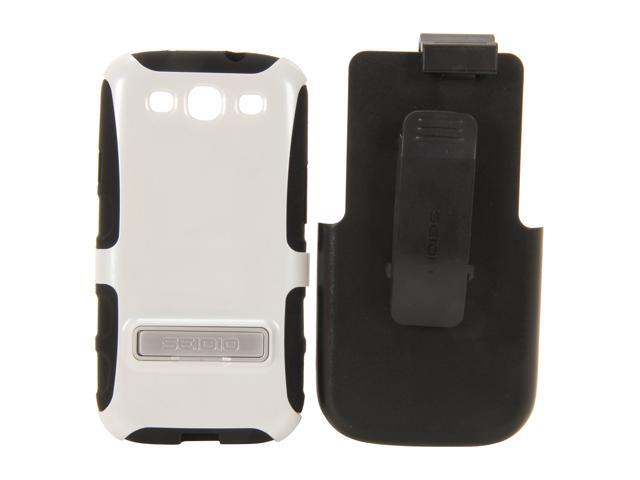 Seidio ACTIVE Combo with Metal Kickstand Glossed White Holster For Samsung Galaxy S III BD2-HK3SSGS3K-GL