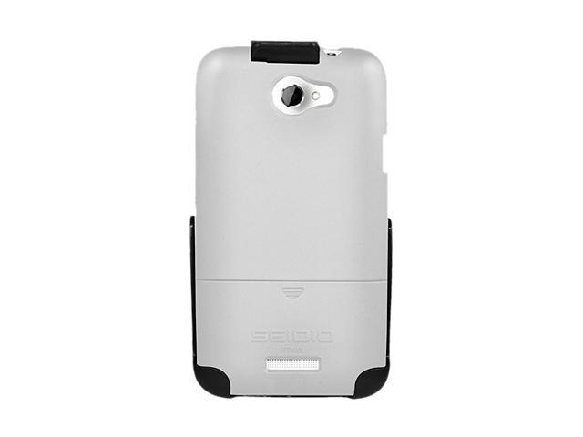 Seidio SURFACE Combo Glossed White Holster For HTC One X (AT&T LTE) BD2-HR3HTNXL-GL