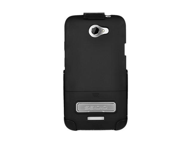 Seidio SURFACE Combo with Metal Kickstand Black Holster For HTC One X (AT&T LTE) BD2-HR3HTNXLK-BK