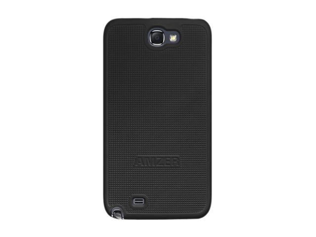 Amzer Snap On Case - Black for Samsung Galaxy Note II GT-N7100