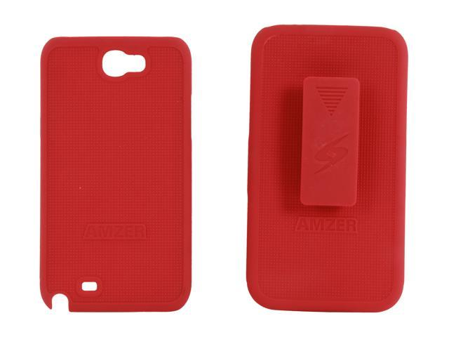 AMZER Shellster Red Holster For Samsung Galaxy Note II AMZ94949