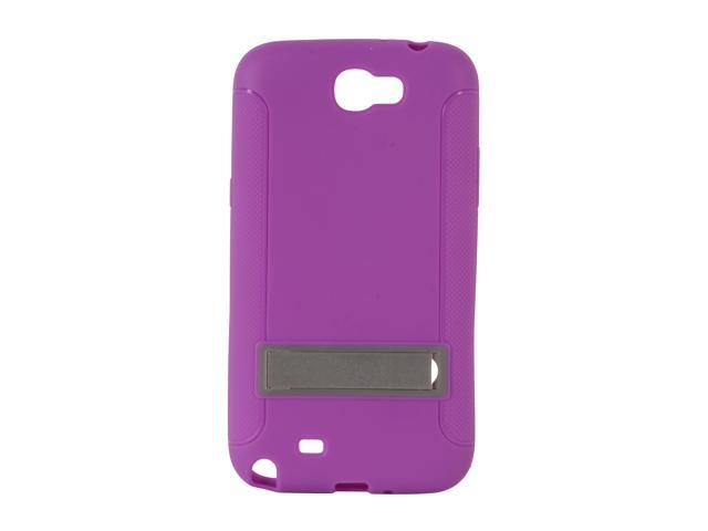 AMZER Purple TPU Skin Case w/ Kickstand For Samsung Galaxy Note II AMZ95208