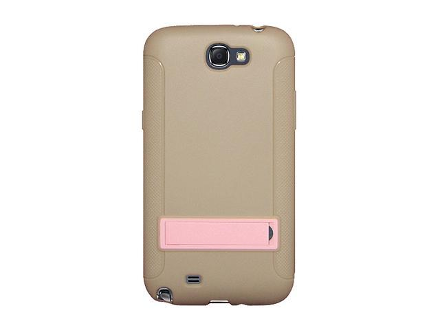 AMZER Taupe TPU Skin Case w/ Kickstand For Samsung Galaxy Note II AMZ95209