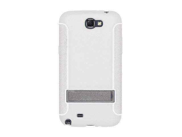 AMZER White TPU Skin Case w/ Kickstand For Samsung Galaxy Note II AMZ95211
