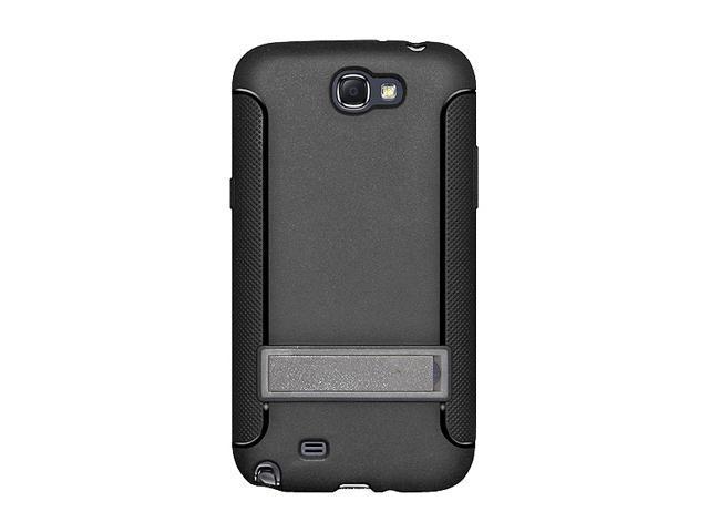 AMZER Black TPU Skin Case w/ Kickstand For Samsung Galaxy Note II AMZ95207