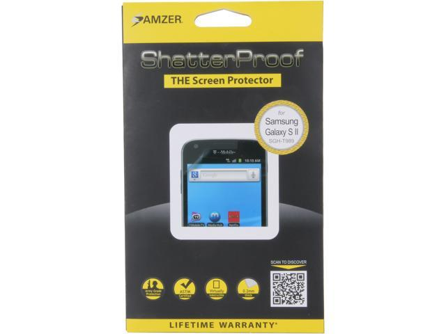 AMZER ShatterProof Front Coverage Screen Protector For Samsung Galaxy S2 T989 AMZ94933
