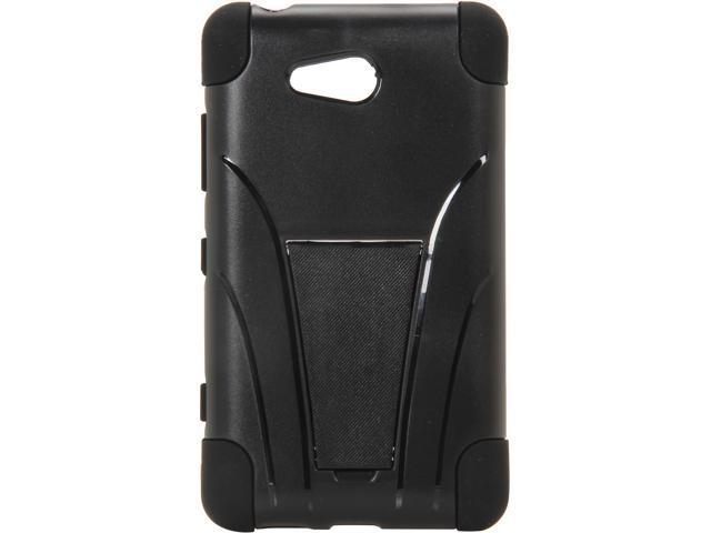 AMZER Black Double Layer Hybrid Case with Kickstand For Nokia Lumia 820 AMZ95420