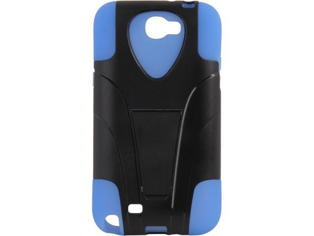AMZER Blue / Black Double Layer Hybrid Case with Kickstand For Samsung Galaxy Note 2 AMZ95419