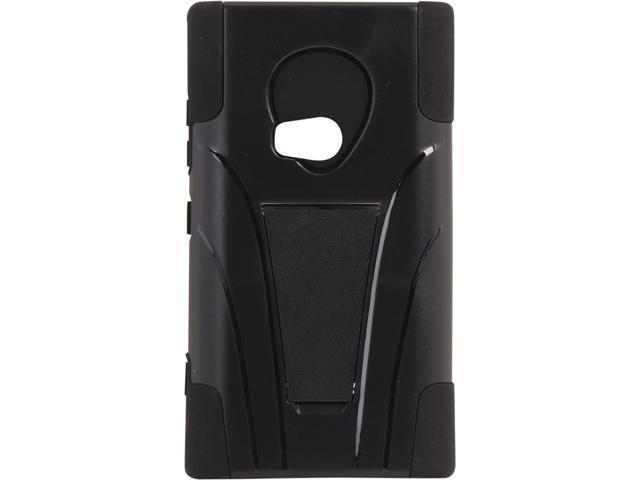 AMZER Black / Black Double Layer Hybrid Case with Kickstand For Nokia Lumia 920 AMZ95412